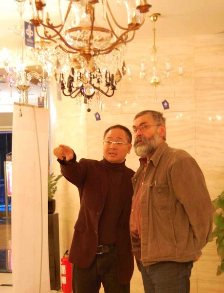 Director of the Blue Heaven company Mr.Raymond Chui and Frantisek Janak