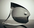 Moon Fish 2008, Steuben Corning, cut crystal glass