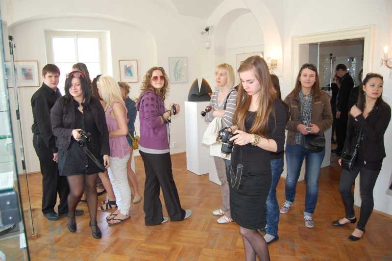 A visit of the exhibition of Frantisek Janak