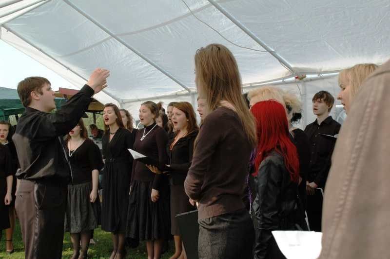 Latvian choir on stage