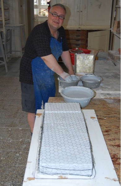 Petr Stacho making molds