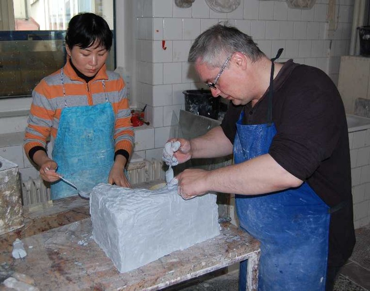 Zhu Li Yue with her teacher Petr Stacho